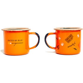 United By Blue Get Toasted Kit Tasses Acier émaillé 177ml, orange